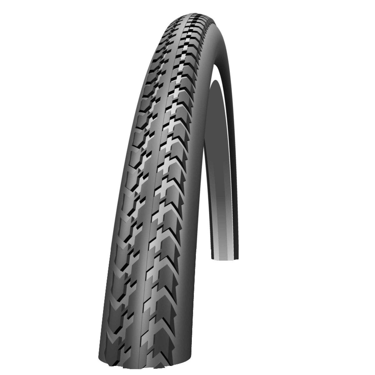 37-540 schwarz//weiß Schwalbe Bereifung Set Fahrrad und Rollstuhl 24 x 1-3//8
