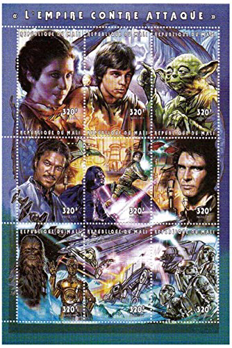 Star Wars stamps - Star Wars The Empire strikes back - 9 stamps. Mint and never mounted stamp sheet ()