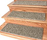 Dog Assist Carpet Stair Treads / Size: 9'' x 27'' (set of 13) Includes 1 roll of double Sided Carpet Tape for Easy Do-it-Yourself Installation