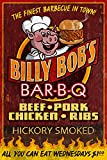 BBQ - Vintage Sign (12x18 Art Print, Wall Decor Travel Poster)