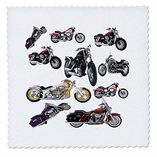 Quilt Square Picturing Harley-Davidson174; Motorcycles - 10x10 inch quilt square (qs_5730_1)