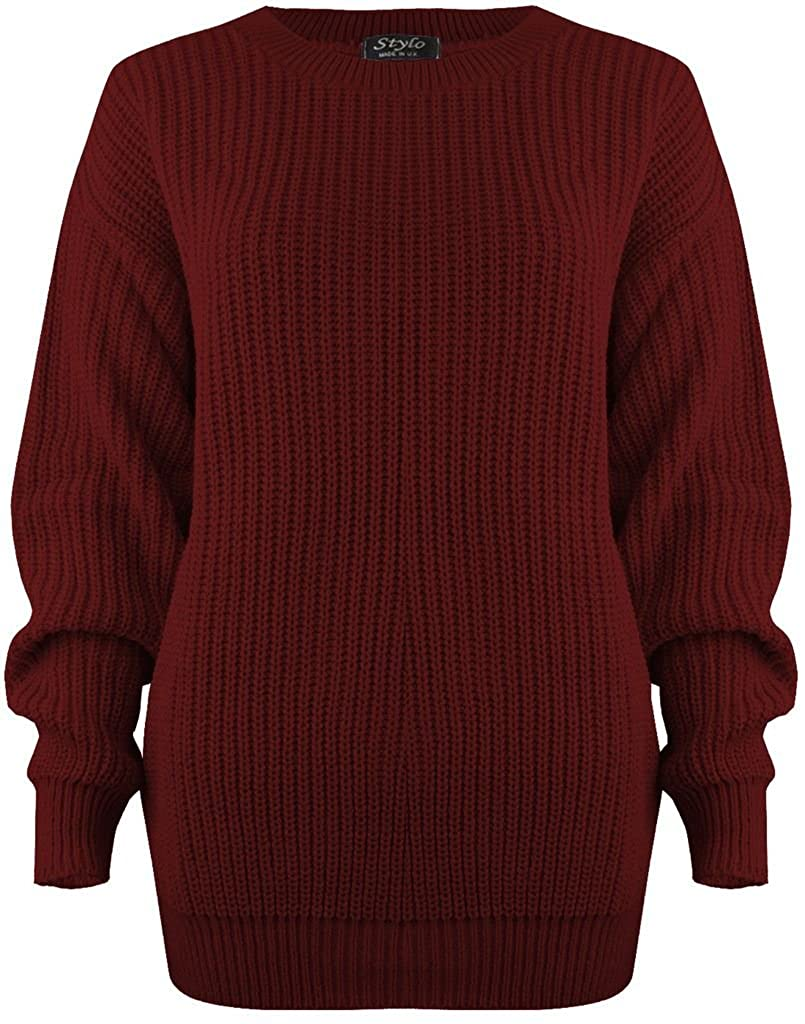 Vanilla Inck New Ladies Womens Girls Thick Knitted Baggy Sweater Top Jumper United Kingdom