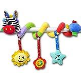Toymytoy Baby spirale passeggino passeggini giocattoli attività giocattoli appesi carrozzina presepe Wrap giocattolo (giallo cervo)