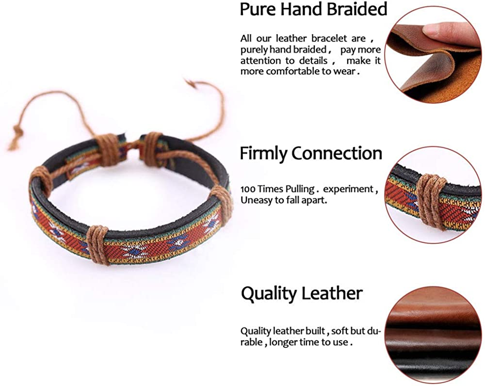 x 5 mixed bracelets leatherette 22 cm in length