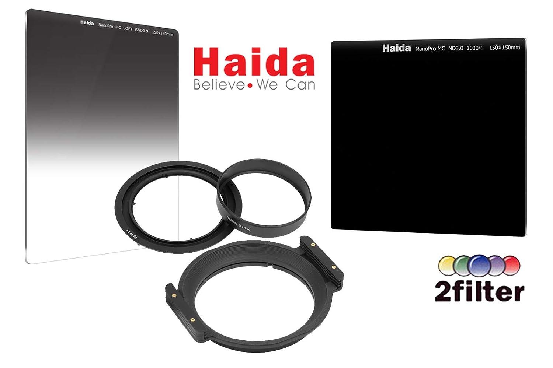 Haida NanoPro 150mm クリエイティブフィルターキット Sigma 20mm f/1.4 DG HSM アートレンズ用 - Haida 150mm フィルターホルダー 150mm MC NanoPro 3.0 ND 10-Stop NanoPro 0.9 SE Grad ND フィルター付き   B07HHHCD5W