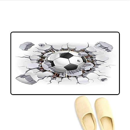 Soefipok Felpudo Balón de fútbol y Yeso Viejo Daño en la Pared ...