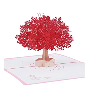 ZHOUBIN Creativas tarjetas de papel talladas a mano en 3D ...