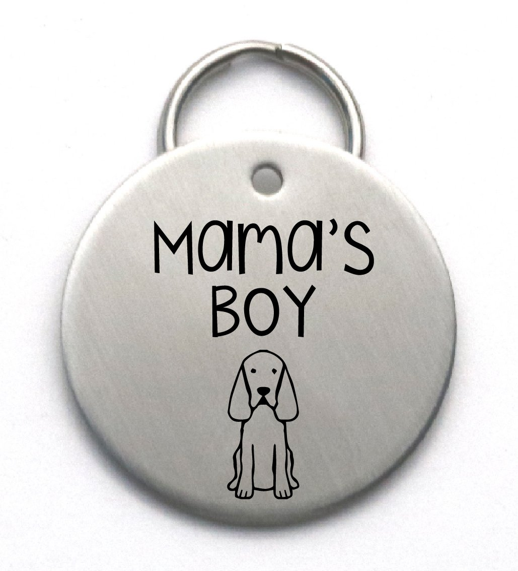 Mama's Boy Custom Pet Tag - Stainless Steel Engraved