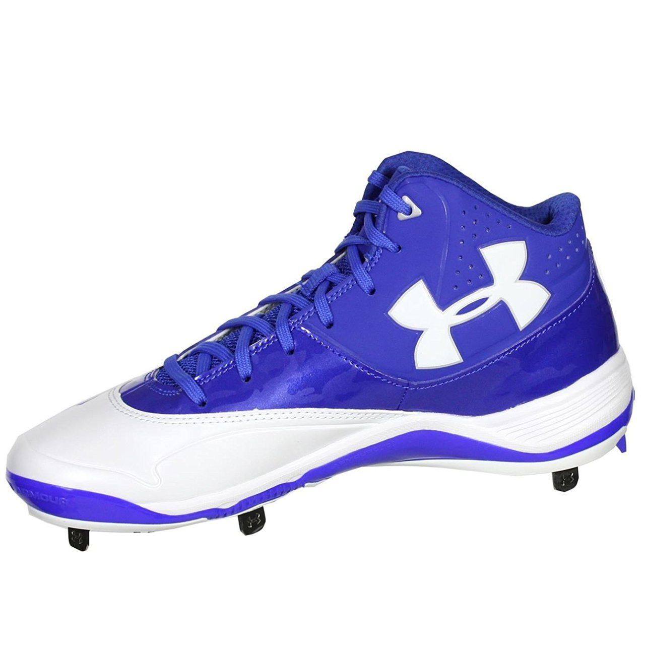 fc3a6dc149f Galleon - Under Armour Mens Ignite Mid ST CC Metal Cleat 8 US Royal White