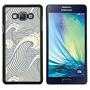 Qstar Arte & diseño plástico duro Fundas Cover Cubre Hard Case Cover para Samsung Galaxy A7 A7000 (Patrón de la onda del remolino)