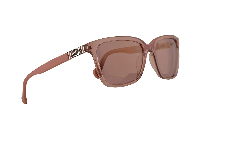 Amazon.com: Carolina Herrera SHE692 Sunglasses Crystal Pink ...