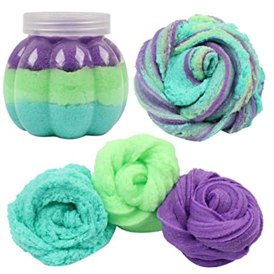 Gbell 50G Fairy Floss Cotton Candy Cloud Slime,Cheap Color Mixing Crunchy Slime Putty,Scented Stress No Borax Mud Kids Squishy Clay Gifts Toy for Girls Boys Adults (C): Sports & Outdoors