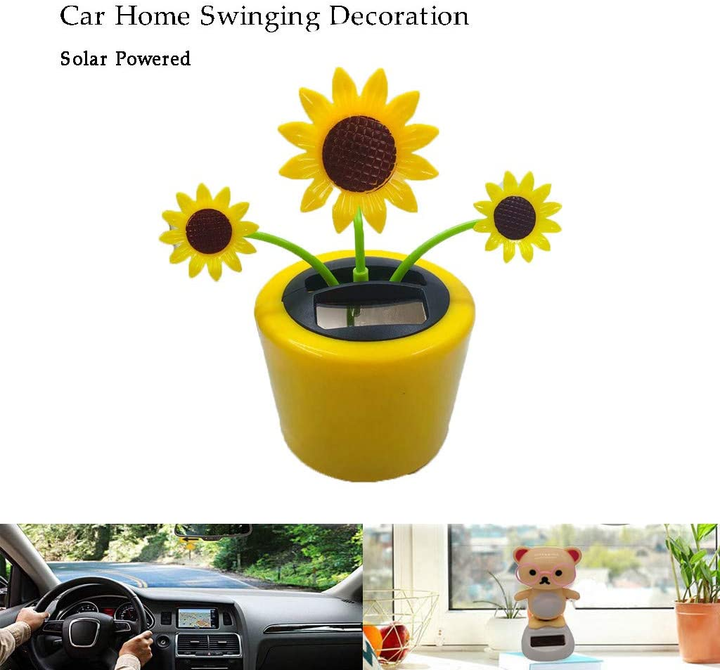 Solar Toy Red Heart Bear Great Holiday Car Dashboard Office Desk Home Decor