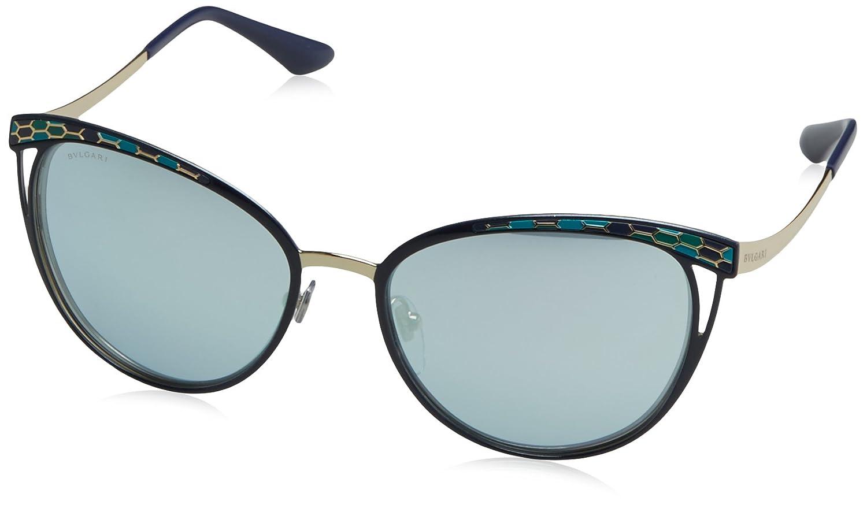 Bulgari 0Bv6083 20206J 56 Gafas de sol, Azul (Blute/Blue White), Unisex-Adulto