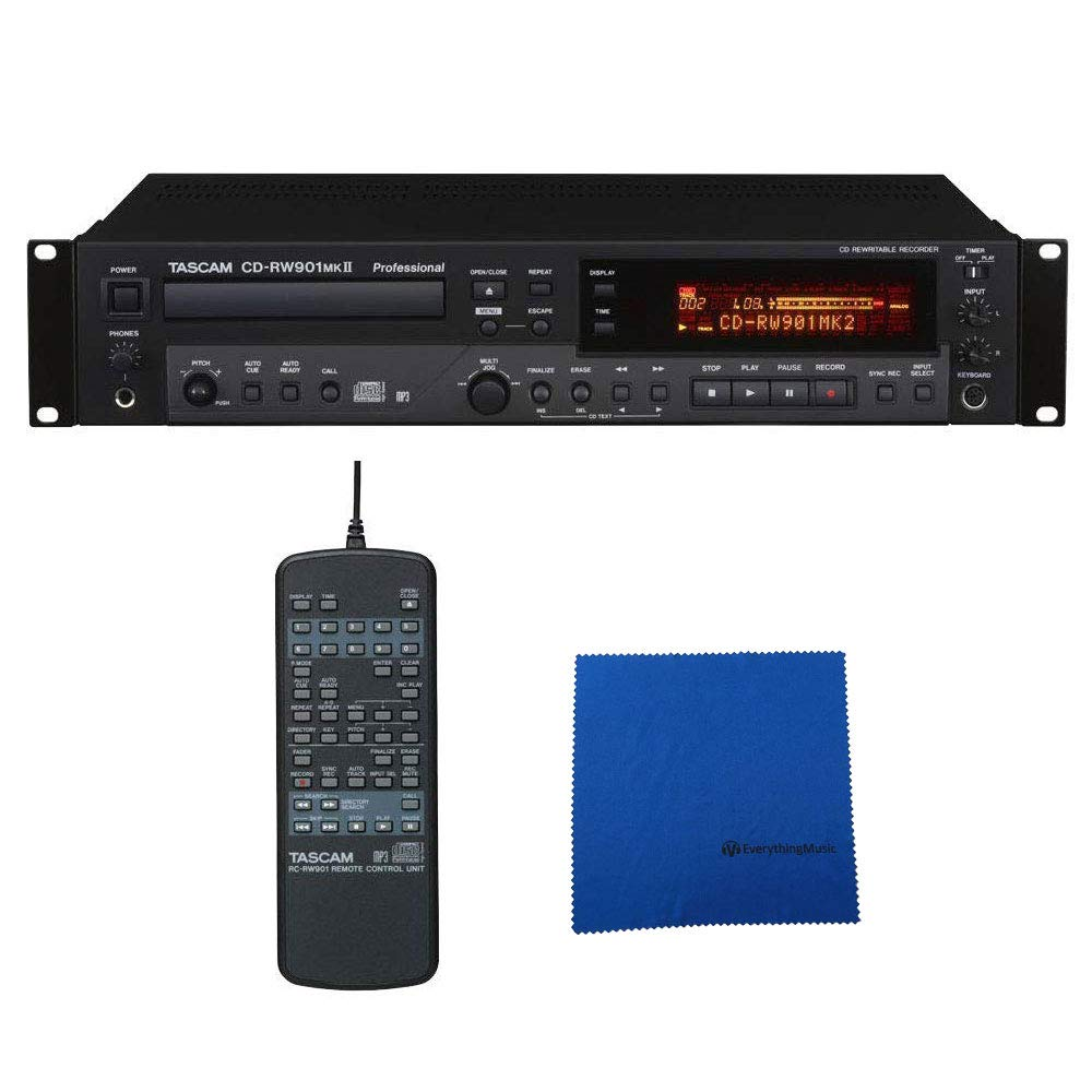 Tascam CD-RW901MKII Professional CD Recorder with Microfiber