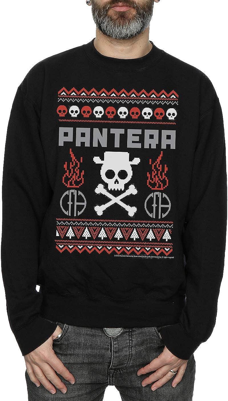 Pantera Men/'s Skull Christmas Sweatshirt