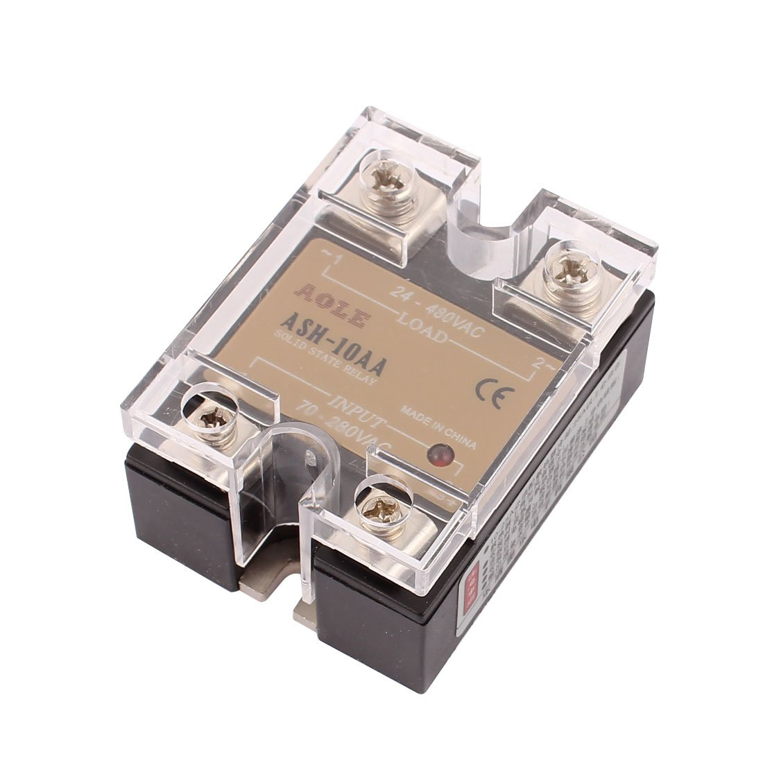 Uxcell Ash 10aa 70 280vac To 480vac 10a Single Phase Solid State Relay Leakage Ac Authorized Home Improvement