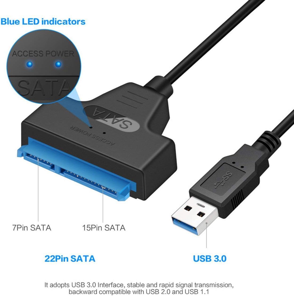 C/âble adaptateur USB SATA Prise en charge du convertisseur de transfert de donn/ées SATA vers USB3.0 Disque dur 2,5