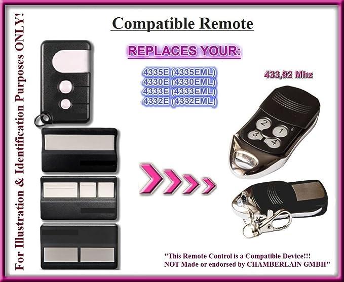 NORMSTAHL T433/ /4/Kompatibel Fernbedienung destancia 433,92/MHz Rolling Code 4-canales Ersatz Transmitter zum Besten Preis.