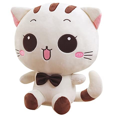 "Peluche de peluche suave animales de peluche de juguete muñeca marfil gato 31 ""bebé"