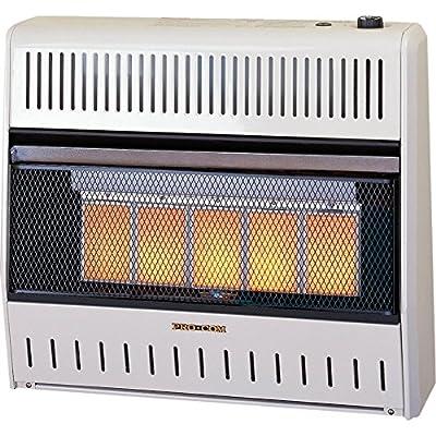 Procom Vent-Free Natural Gas Wall Heater - 5 Plaque, 30,000 BTU, Manual Control