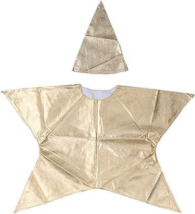 Amosfun disfraz en forma de estrella para niños disfraz de navidad ...