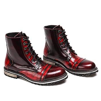 Mr.Zhangs Art Home Mens shoes Zapatos de Hombre al Aire Libre con Botines Rojos