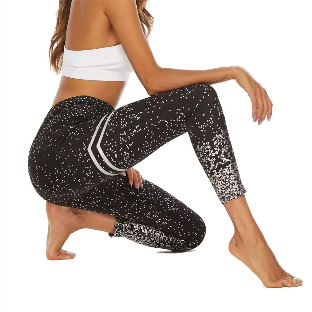 WFDDSD Yoga-Leggings f/ür Damen,Hochwertige modisch Bedruckte Yoga Workout Stretch Leggings