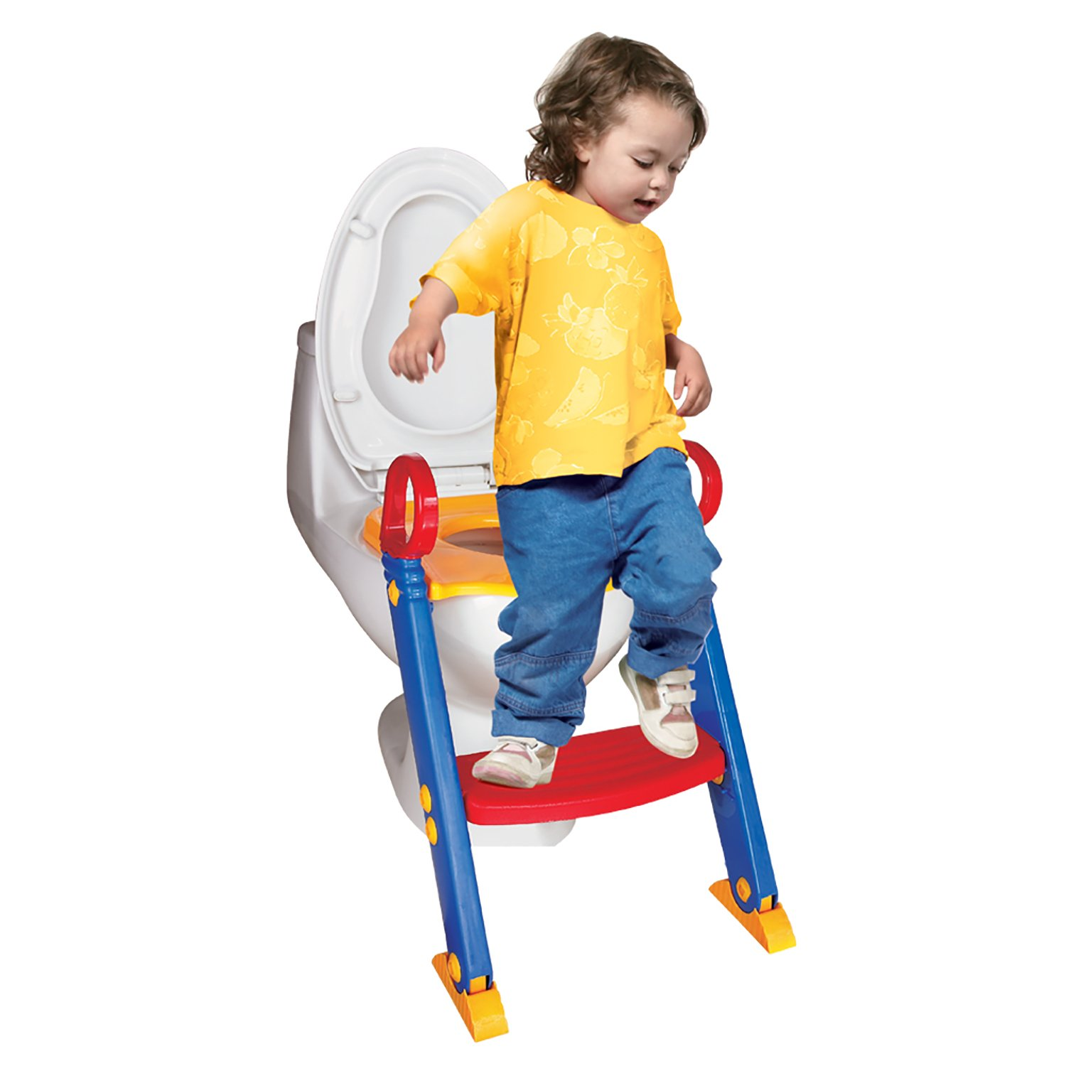 Chummie Joy 6 in 1 Portable Potty Training Ladder Step Up Seat for Boys and Girls with Anti-Skid Feet, Adjustable Steps, Comfortable Potty Seat and Handrail by Chummie
