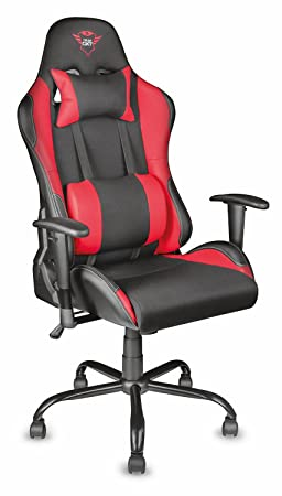 Trust Resto Gxt 707 Chaise Bureau Gamer Noir Rouge Amazon Fr