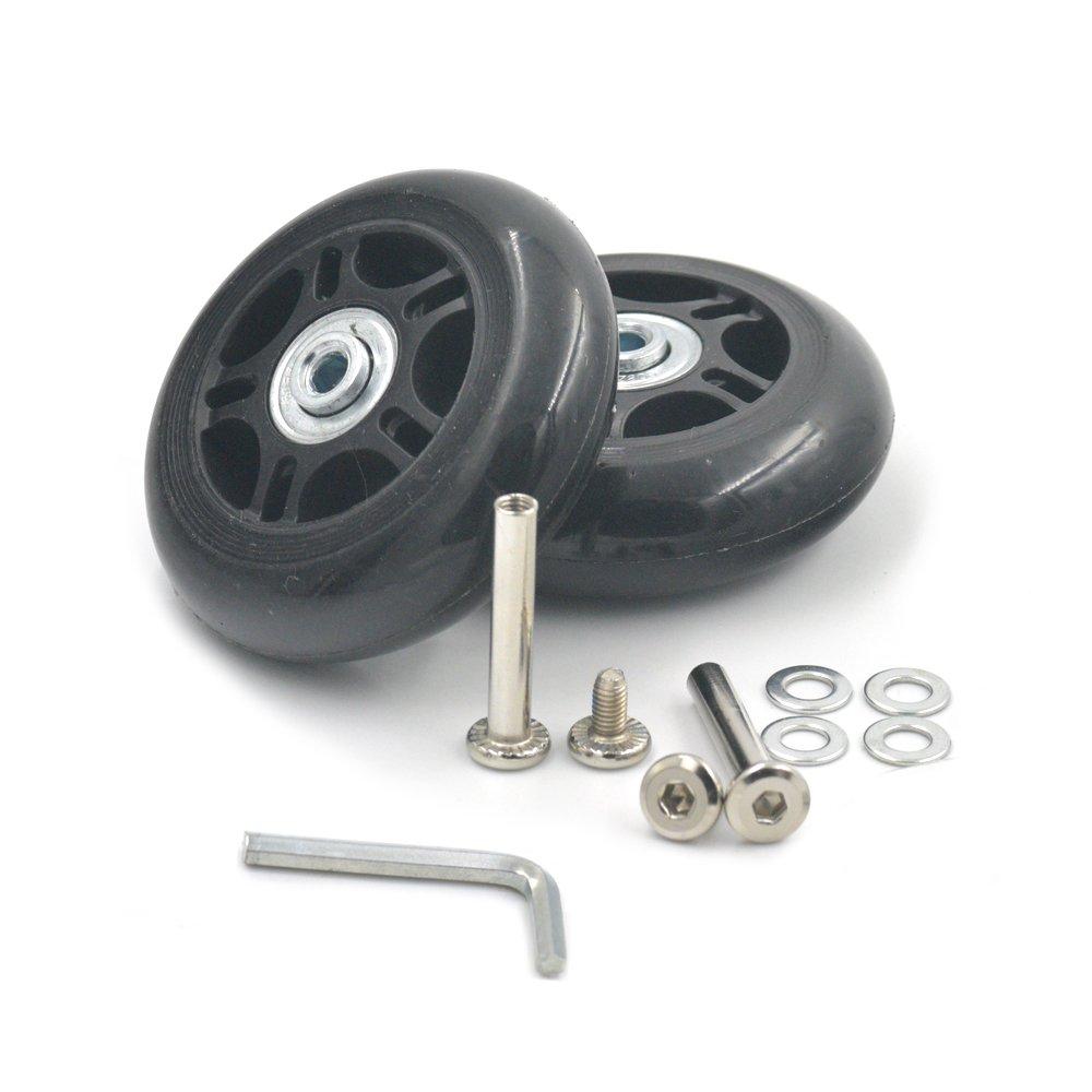 fujiyuan 1/par 75/mmx23/mm viaje equipaje maleta trolley rueda piezas resistente llave de repuesto para maletas ejes reparaciones