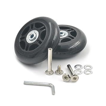 fujiyuan 1 par 75 mmx23 mm viaje equipaje maleta trolley rueda piezas resistente llave de repuesto para maletas ejes reparaciones: Amazon.es: Deportes y ...