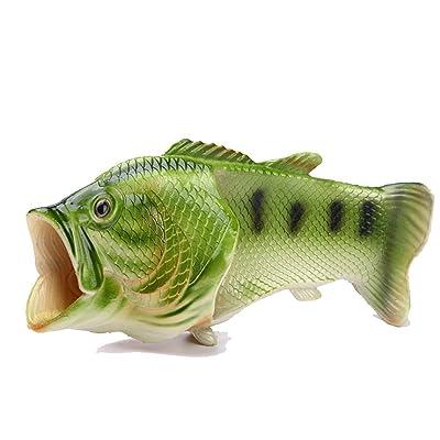 CAIKO Men& Women's Non-Slip Lightweight Fish Sandal,Beach Aqua,Outdoor,Indoor Slippers