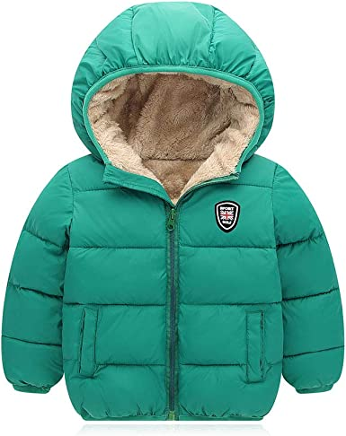Kids cute Winter Coats with Hoods Light Puffer Jacket for Baby Boys Girls,Toddlers
