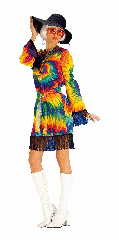 Andrea Moden - Disfraz de hippie para mujer, multicolor: Amazon.es ...