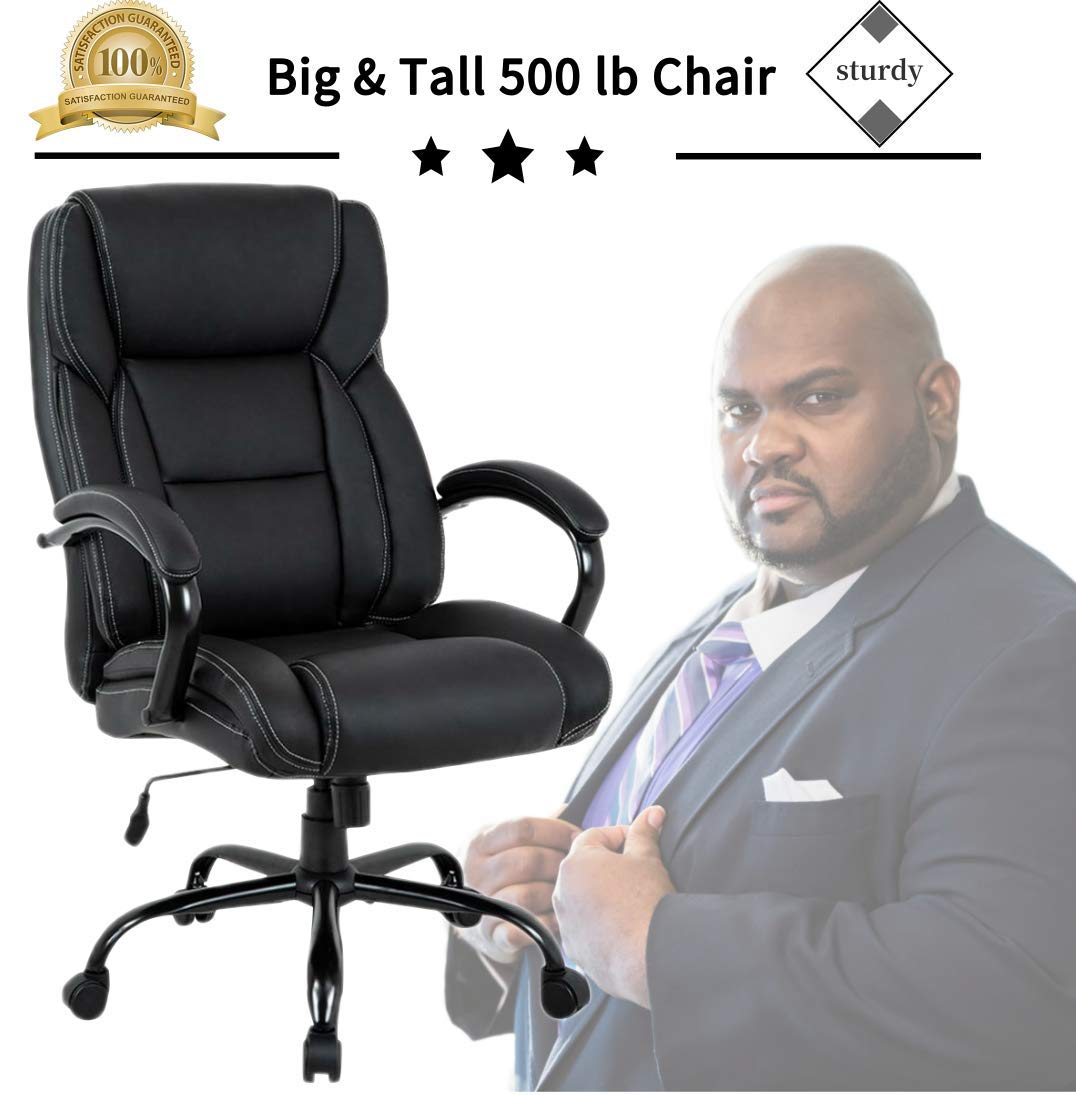 Strange Big Tall Heavy Duty Executive Chair 500 Lbs Heavyweight Rated Black Pu Leather Task Rolling Swivel Ergonomic Executive Office Chair With Lumbar Gmtry Best Dining Table And Chair Ideas Images Gmtryco