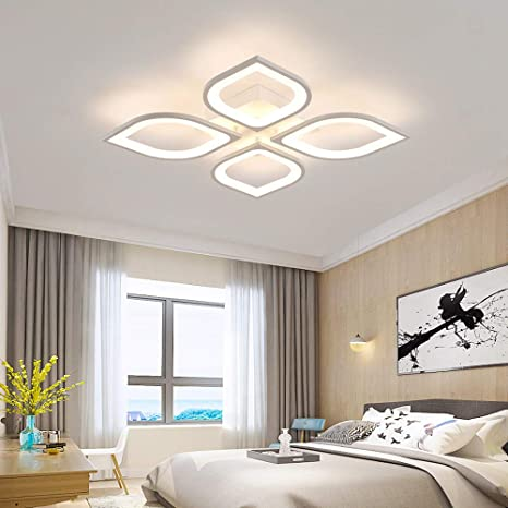 Baycheer Led Ceiling Lighting Fixtures Modern Petal Shade Flush Mount Ceiling Light Creative 4 Lights Unique Design Ceiling Fixture For Office Living Room Dinning Room Kitchen Natural Light Amazon Com
