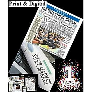 The Wall Street Journal WSJ Newspaper - 1 year of Print Plus Digital