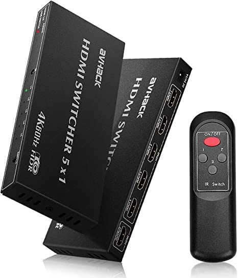 5 Port HDMI Umschalter Switch Splitter Verteiler 5 In 1 Out Full-HD 1080p 4K