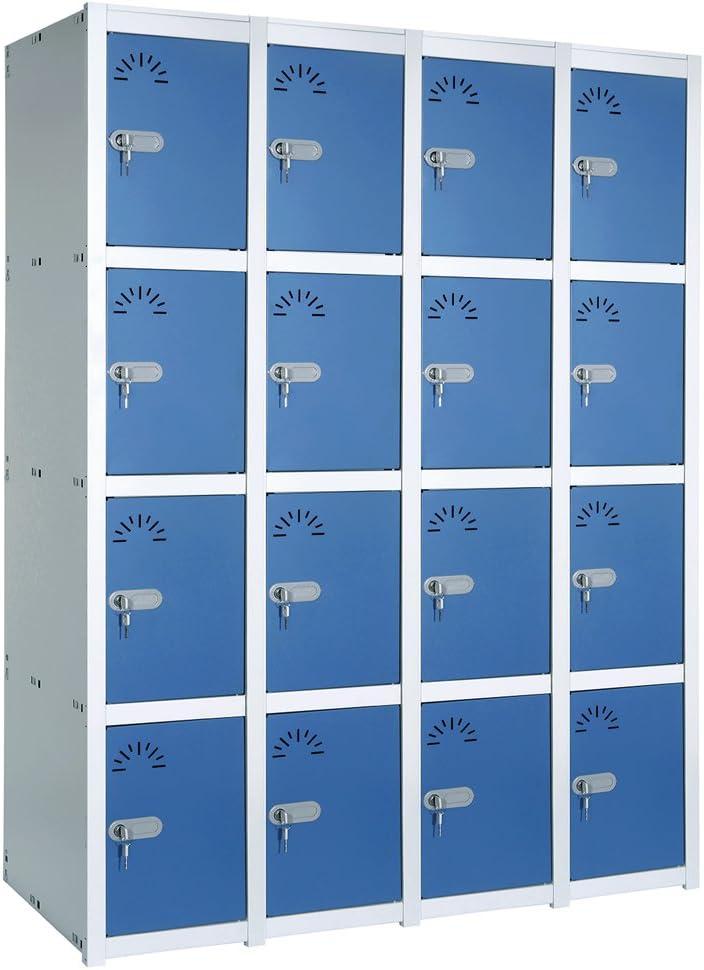 Taquilla metálica 4 Puertas. Módulo de 4 cuerpos. Med.: 1800x1030x520 mm. Desmontado: Amazon.es: Bricolaje y herramientas