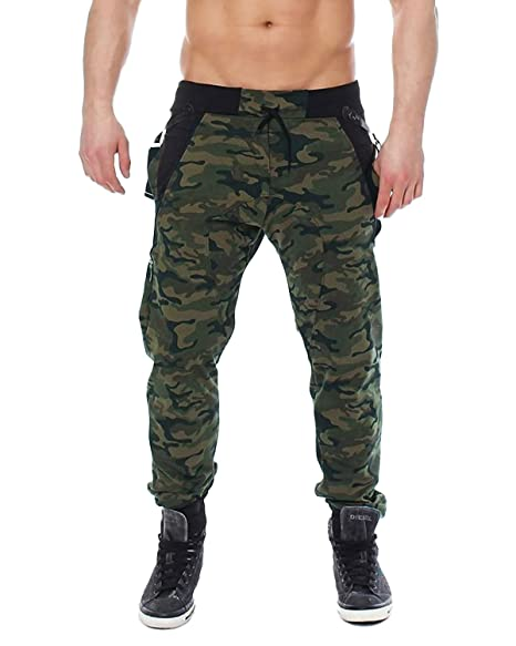 where to buy new lower prices popular brand MODCHOK Men's Jogger Pants Camo Cargo Trousers Camouflage Sports Twill  Drawstring Casual Chino Sweatpants