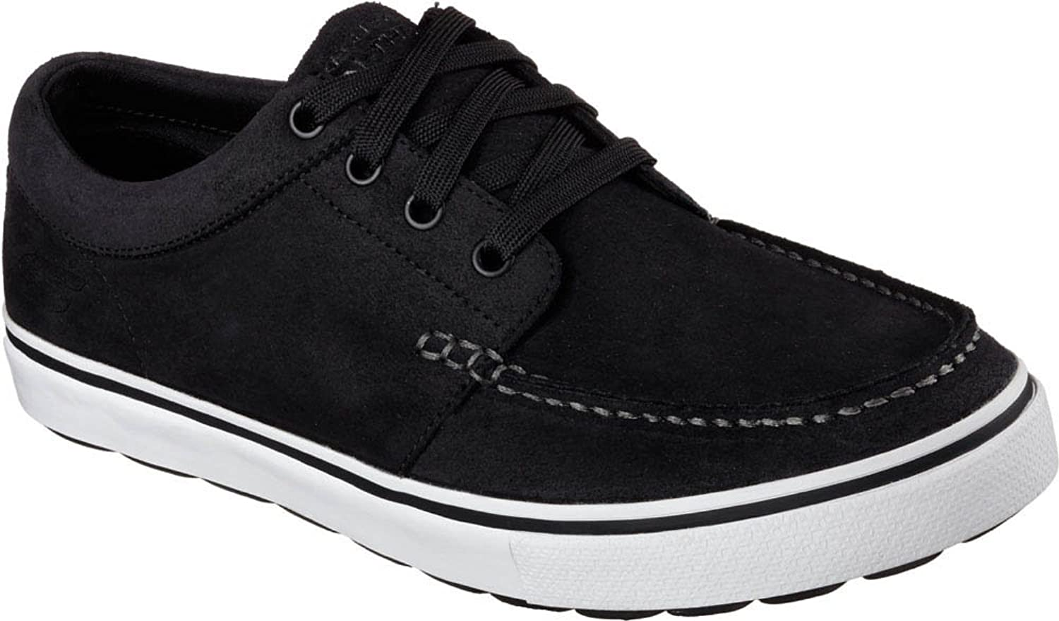 707b963f9 low-cost Skechers Go Vulc Decoy Mens Black Suede Lace Up Sneakers Shoes