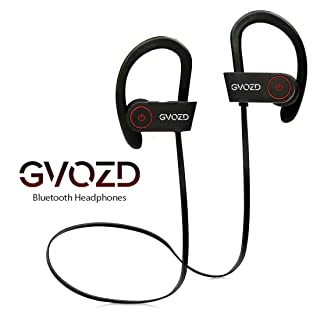 Bluetooth Headphones Gvozd, Wireless Sweatproof Noise Isolating Earbuds, Waterproof IPX7, HD Sound with Bass, Microphone, Soft Silicone Earhooks, For Sport Running Gym Yoga Fitness Traveling