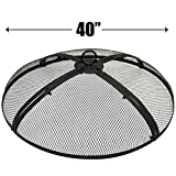 EasyGo 40 INCH FIRE SCREEN – FIRE PIT COVER – FIRE SCREEN...