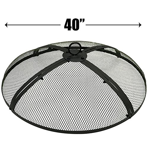 EasyGo 40 INCH FIRE SCREEN – FIRE PIT COVER – FIRE SCREEN PROTECTOR