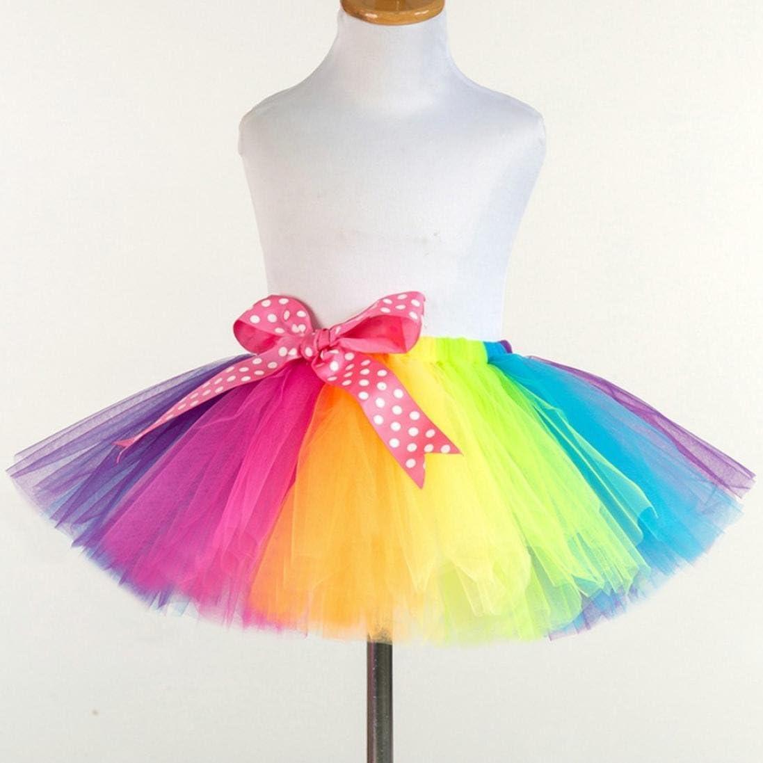 QinMM Falda de tutú de Tul Danza de niña, bowknow Falda de Baile ...