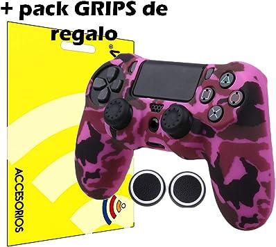 actecom® Funda Carcasa + Grip Silicona Camuflaje Rosa Mando Sony PS4 Playstation 4: Amazon.es: Electrónica
