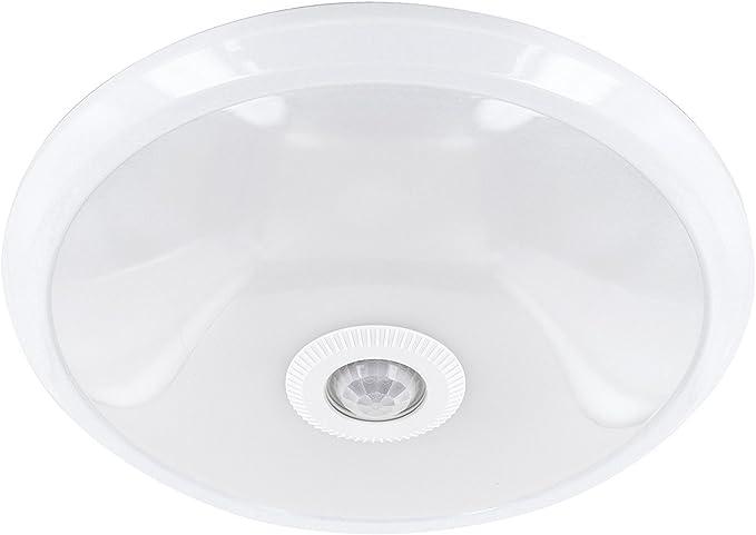 hava - Lámpara de techo con sensor de movimiento PIR, 12 W, 360 ...