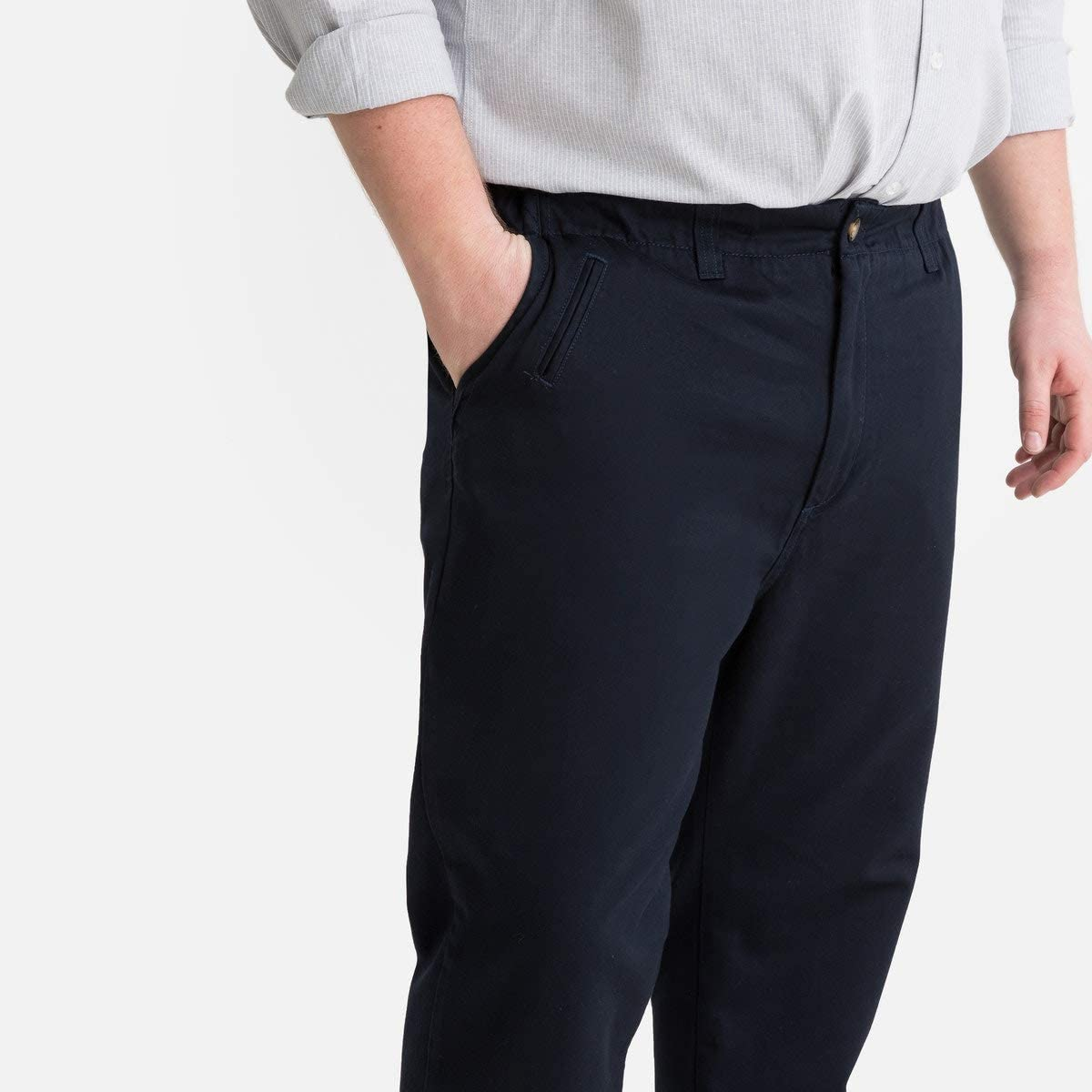 La Redoute Collection Plus Mens Regular Chinos with Side Elastic