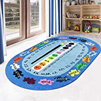 LIVEBOX Play Mat, Faux Wool Kids Play Area Rugs Non-Slip Childrens Carpet ABC Number and Color Educational Learning & Game for Living Room Bedroom Playroom Nursery 2019 Best Shower Gift